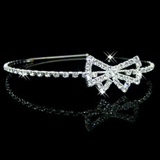 Beautiful Alloy With Rhinestone Bow Bridal Wedding Tiara