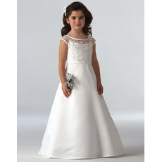 Cheap Classy Princess A-Line Long First Communion Dress