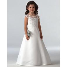 Cheap Classy Princess A-Line Long First Communion Dress