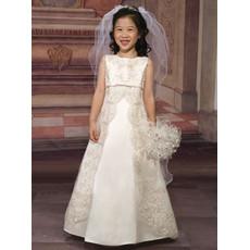 Girls Organza Embroidery Empire First Communion Dress/ Flower Girl Dress