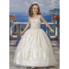 Girls Ball Gown Ankle Length First Communion/ Flower Girl Dress with Jackets