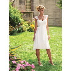Simple Charming Chiffon Short Dress for Summer Beach Wedding