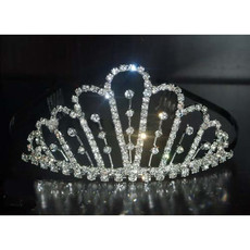 Affordable Beautiful Alloy With Rhinestones Bridal Wedding Tiara