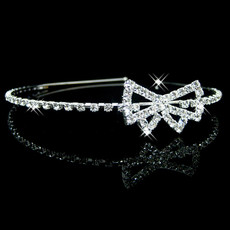 Cheap Beautiful Alloy With Rhinestone Bowknot Bridal Wedding Tiara