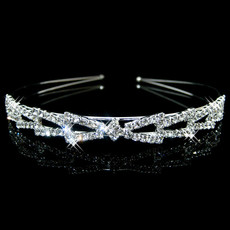 Alloy With Rhinestones Bridal Wedding Tiara