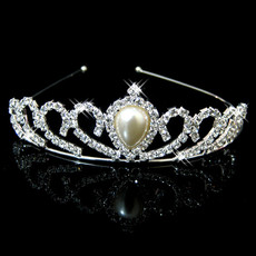 Cheap Beautiful Alloy With Pearl Bridal Wedding Tiara