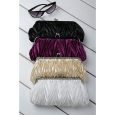 Cheap Beautiful Satin Evening Handbags/ Clutches/ Purses with Rhinestone