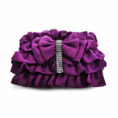 Beautiful Satin Evening Handbags/ Clutches/ Purses with Bowknot