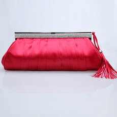 Beautiful Satin Evening Handbags/ Clutches/ Purses with Rhinestone