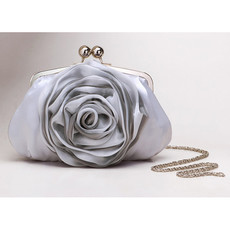 Cheap Silk Evening Handbags/ Clutches/ Purses with Flower