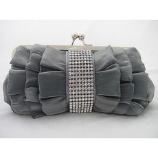 Inexpensive Silk Evening Handbags/ Clutches/ Purses with Rhinestone