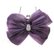 Affordable Beautiful Silk Evening Handbags/ Clutches/ Purses with Bowknot