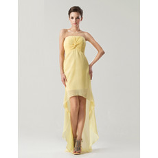 Sexy Sheath/ Column Strapless Asymmetric Chiffon Prom/ Party Dress