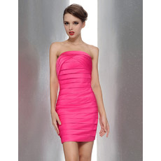 Sexy Bodycon Sheath/ Column Strapless Mini Bridesmaid Dress for Summer