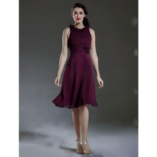 Discount Stylish A-Line Knee Length Chiffon Bridesmaid Dress
