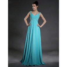 Modern A-Line Sweetheart Floor Length Chiffon Bridesmaid Dress for Women