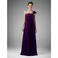 Discount Custom Floor Length Purple Chiffon Bridesmaid Dress for Women