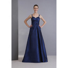 Simple A-Line Sweetheart Floor Length Satin Bridesmaid Dress for Maid of Honour