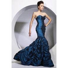 Women's Vintage Mermaid/ Trumpet Sweetheart Taffeta Prom Evening Dress