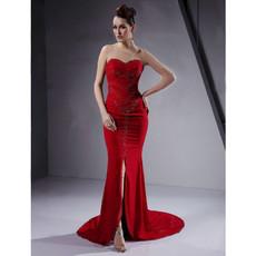 Custom Sheath/ Column Sweetheart Asymmetric Evening/ Prom Dress