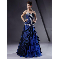 Vintage A-Line Sweetheart Floor Length Prom Evening Dress for Women