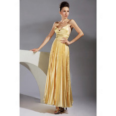 Sexy Spaghetti Straps Ankle Length Prom Evening Dress for Women