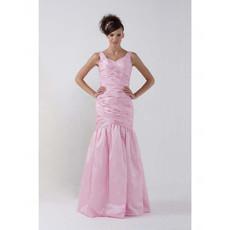 Women's Vintage Mermaid/ Trumpet Floor Length Pink Prom Evening Dress