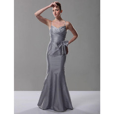 Classic Mermaid/ Trumpet Spaghetti Straps Prom Evening Dress
