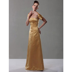 Retro A-Line Strapless Floor Length Prom Evening Dress