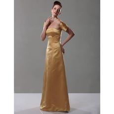 Retro A-Line Strapless Floor Length Prom Evening Dress