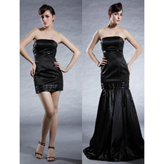 Custom Two in one Mermaid Evening Dress for Women with Detachable Skirts