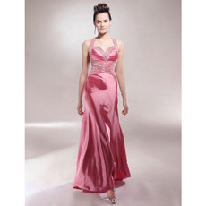 Women's Sexy Sheath Sweetheart Asymmetric Satin Evening Dress