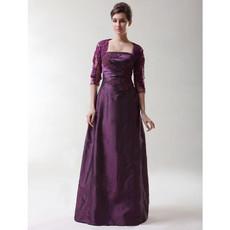Discount Vintage A-Line Strapless Taffeta Prom Evening Dress for Women