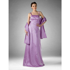 Vintage Satin Floor Length Prom Evening Dress for Women
