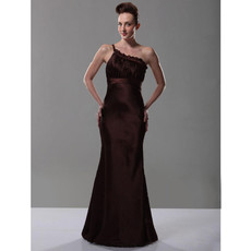 Classic One Shoulder Mermaid Prom Evening Dress for Women