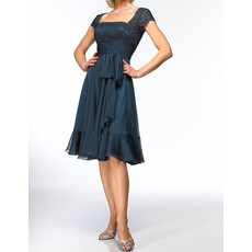 Designer A-Line Knee Length Chiffon Mother of the Bride/ Groom Dress