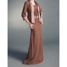Affordable A-Line Floor Length Chiffon Mother Dress with Jackets