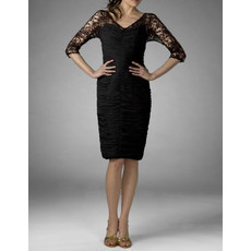 Classic Sheath V-Neck Knee Length Lace Mother of the Bride/ Groom Dress