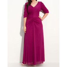 Popular Plus Size Long Chiffon Mother of the Bride Dress