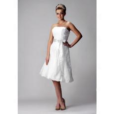 Informal A-Line Strapless Short Reception Wedding Dress