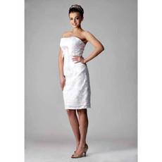 Sexy Column/ Sheath Strapless Short Beach Wedding Dress