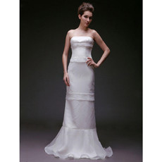 Discount Mermaid/ Trumpet Strapless Floor Length Wedding Dresses