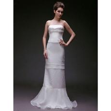 Discount Mermaid/ Trumpet Strapless Floor Length Wedding Dress