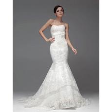 Elegant Mermaid/ Trumpet Sweetheart Chapel Train Wedding Dress