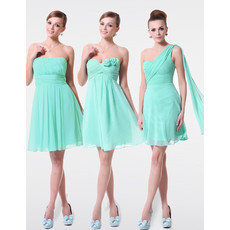 Discount Elegant A-Line Short Chiffon Bridesmaid Dress for Summer