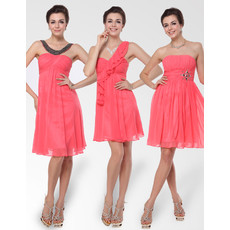 Elegant and Stylish Empire Short Chiffon Bridesmaid Dress for Summer