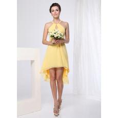 Sexy Sheath Short Chiffon Bridesmaid Dress for Summer Beach Wedding