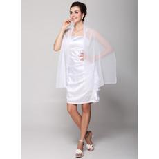 Cheap Designer Simple Column Spaghetti Straps Short Satin Bridesmaid Dress