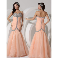 Amazing Mermaid Sweetheart Long Chiffon Evening Prom Dress for Women