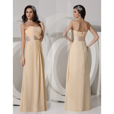 Elegant Sheath Sweetheart Long Chiffon Evening Prom Dress for Women